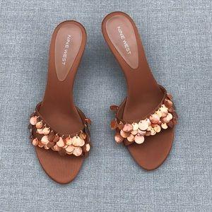 Nine West Bronze Sandals Sz 8.5